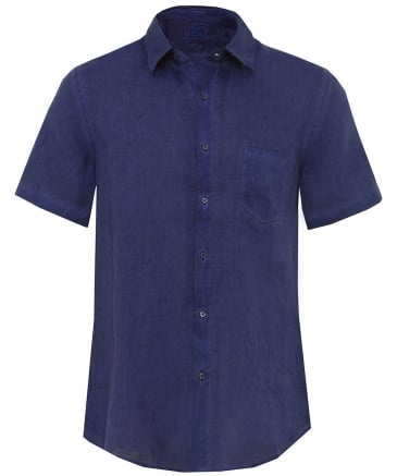 Regular Fit Linen Short Sleeve Shirt