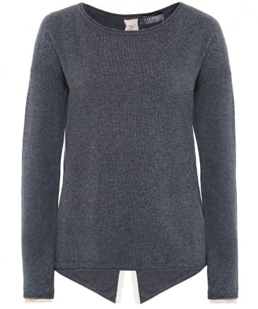 Cashmere Button Back Jumper