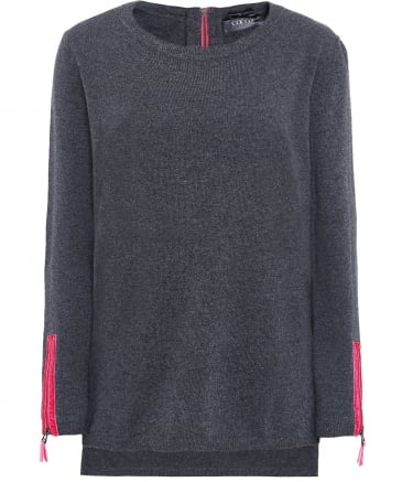 Cashmere Zip Sleeve Jumper
