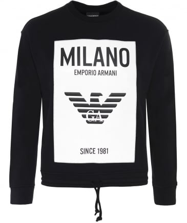 Box Fit Crew Neck Milano Sweatshirt