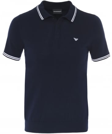 Jersey Cotton Twin Tipped Polo Shirt