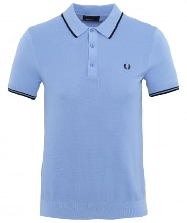 Pique Knitted Cotton Polo Shirt