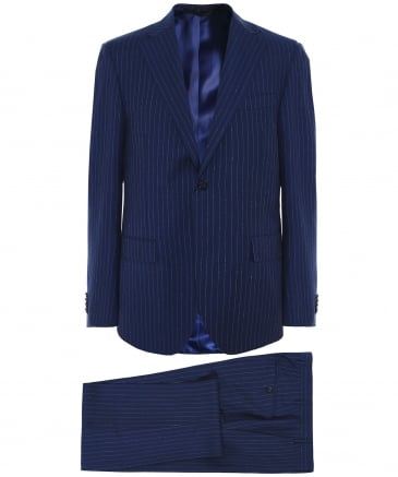 Virgin Wool Pinstripe Suit