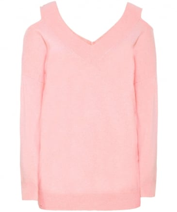 Cashmere Cold Shoulder Jumper