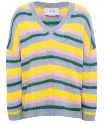 Mohair Blend Striped Nicole Jumper