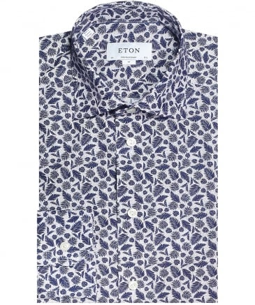 Contemporary Fit Leaf Print Shirt