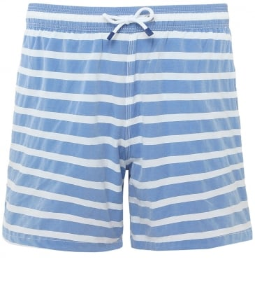 Stretch Fit Barre Stripe Volley Swim Shorts
