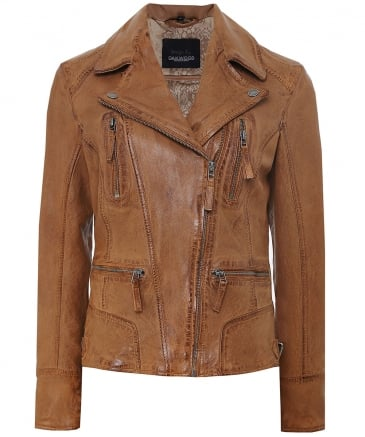 Camera Biker Leather Jacket
