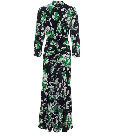 Lucy Floral High Neck Maxi Dress