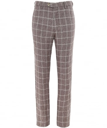 Linen Lynx B Check Trousers