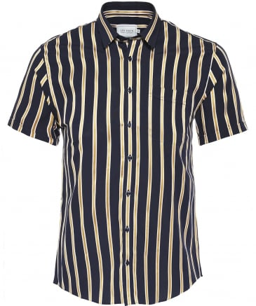 Regular Fit Short Sleeve Striped Verrier Shirt