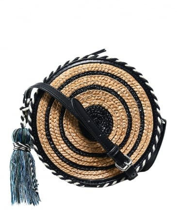 Straw Circle Shoulder Bag
