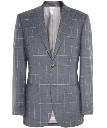 Slim Fit Wool Check Jacket