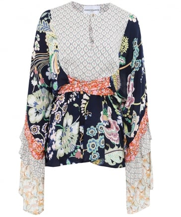 Liberty Floral Belted Top