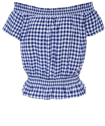 Lita Gingham Bardot Top