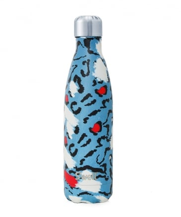 17oz Azure Leopard Water Bottle