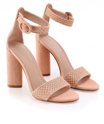 Suede Giselle Ankle Strap Sandals