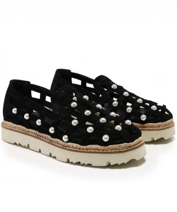 Pearl Studded Open Shoes