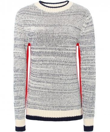 Contrast Side Panel Sweater