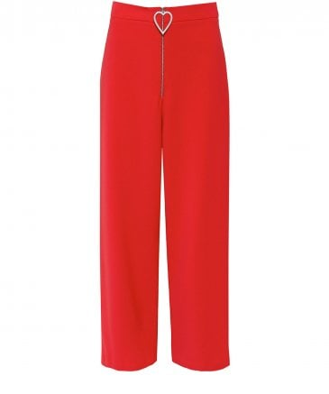 Chow Heart Wide Leg Trousers