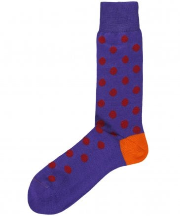 Bright Polka Dot Socks