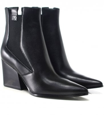Matte Leather Finigan Ankle Boots