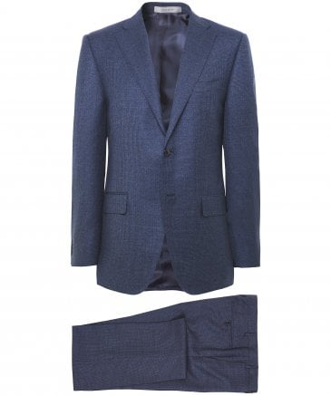 Virgin Wool Houndstooth Suit