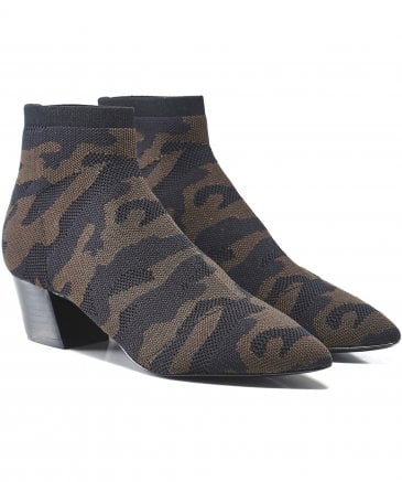 Ash Women's Camille Camo Knitted Sock Boots