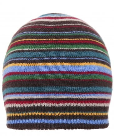 Cashmere Blend Striped Beanie