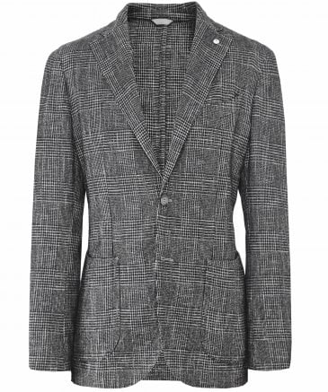 Wool Blend Check Jacket