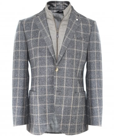 Wool Blanket Check Jacket