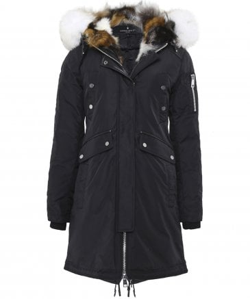 Nicole Benisti Women's Madison Fur Trim Parka