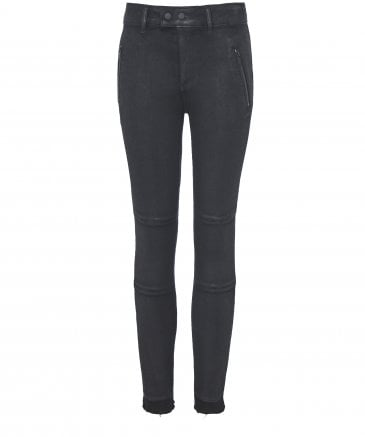 Florence Coated Zip Skinny Jeans