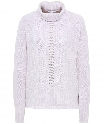 ce4170cdaeccee Cable Knit Funnel Neck Jumper