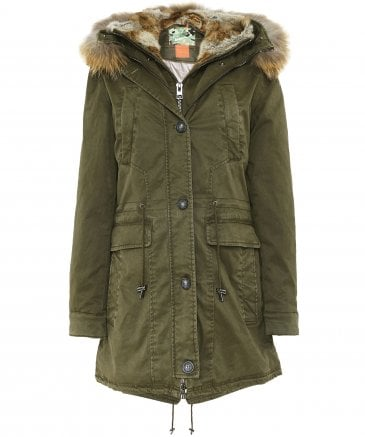 Saphir Long Fur Trim Parka