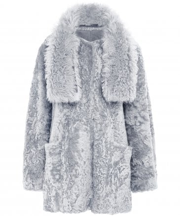 Shearling Reversible Tabard Coat