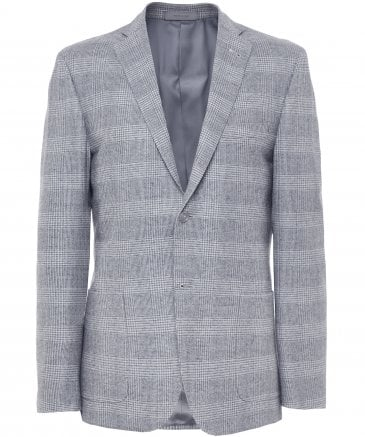 Virgin Wool Check Jacket