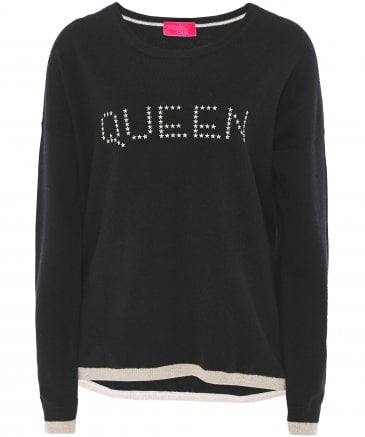 Cashmere Maya 'Queen' Studded Jumper