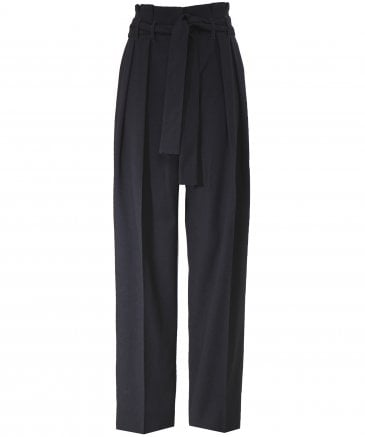 Front Pleat Tie Trousers