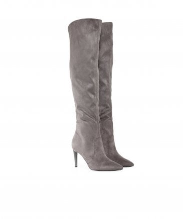Faux Suede Zanna Knee High Boots