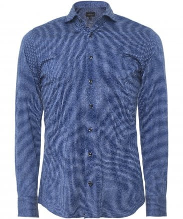 Slim Fit Jersey Cotton Micro Pattern Shirt