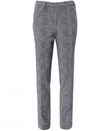 Slim Fit Prince of Wales Check Trousers