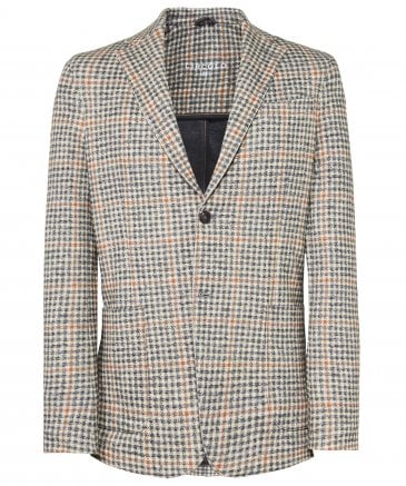 Stretch Cotton Houndstooth Jacket