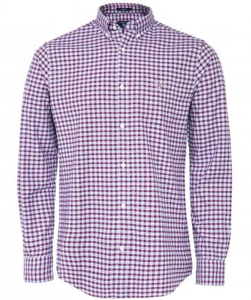 Regular Fit Brushed Cotton Check Shirt