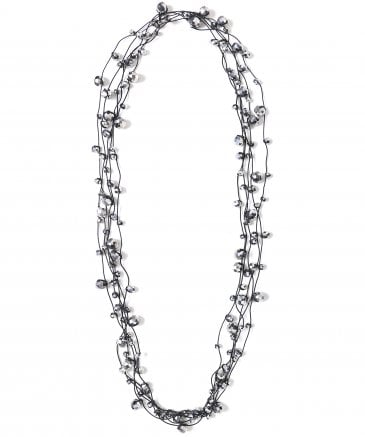 Jianhui Women's Multi Strand Crystal Necklace