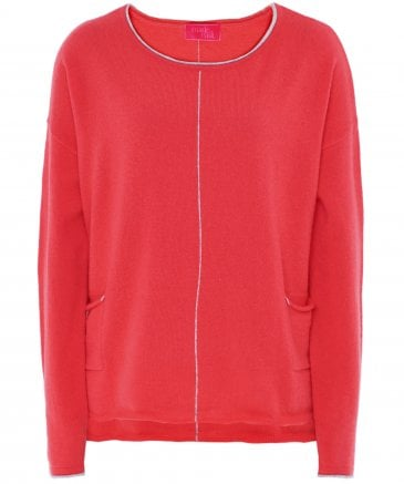 Cashmere Chrissie Contrast Pipe Detail Jumper