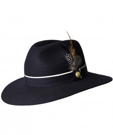 Holland Cooper Women's Grayson Trilby Hat with Feather Detail