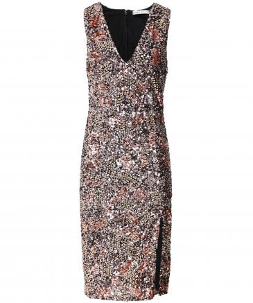 Natalie Sequin Midi Dress