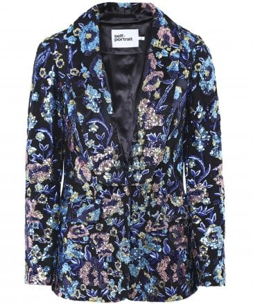 Floral Sequin Embellished Jacket