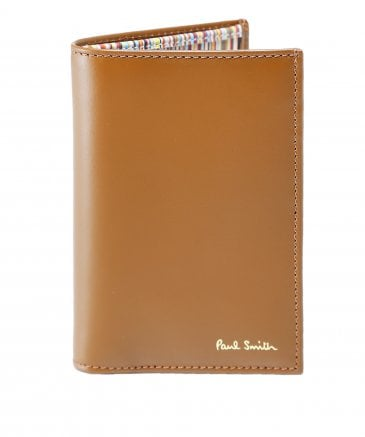 Leather Signature Stripe Interior Card Wallet